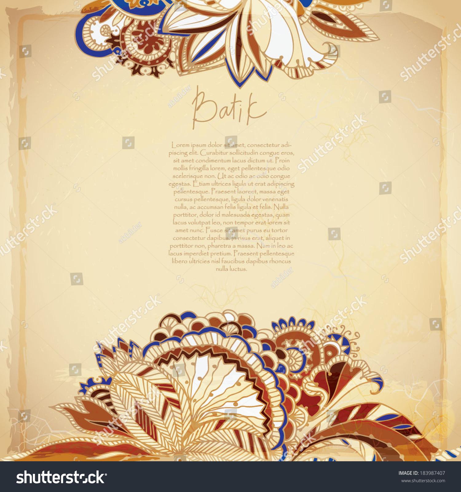 Batik Exotic Background Stock Vector 183987407