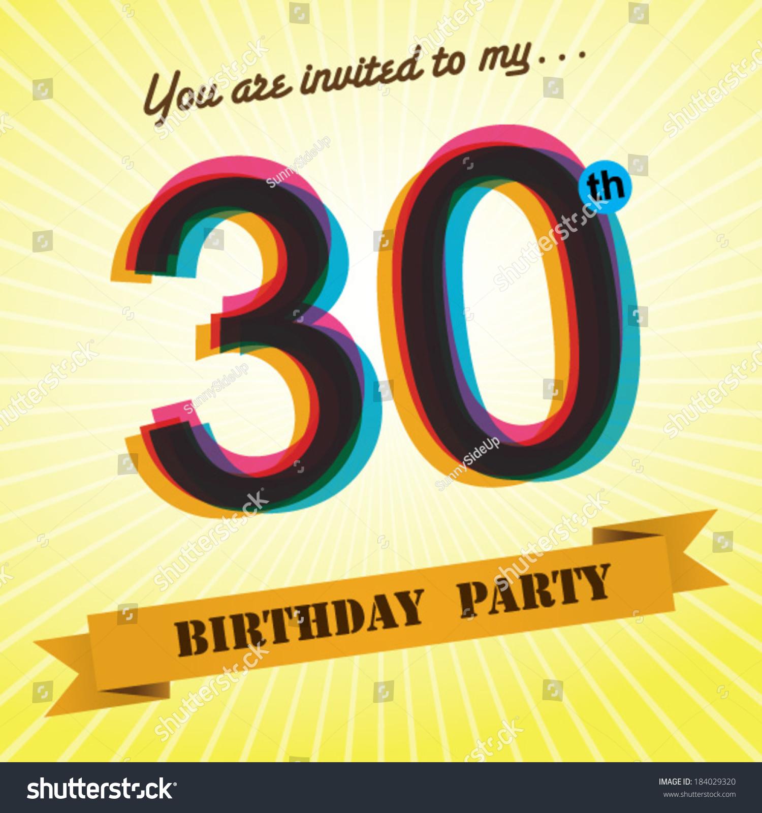 30th invite template