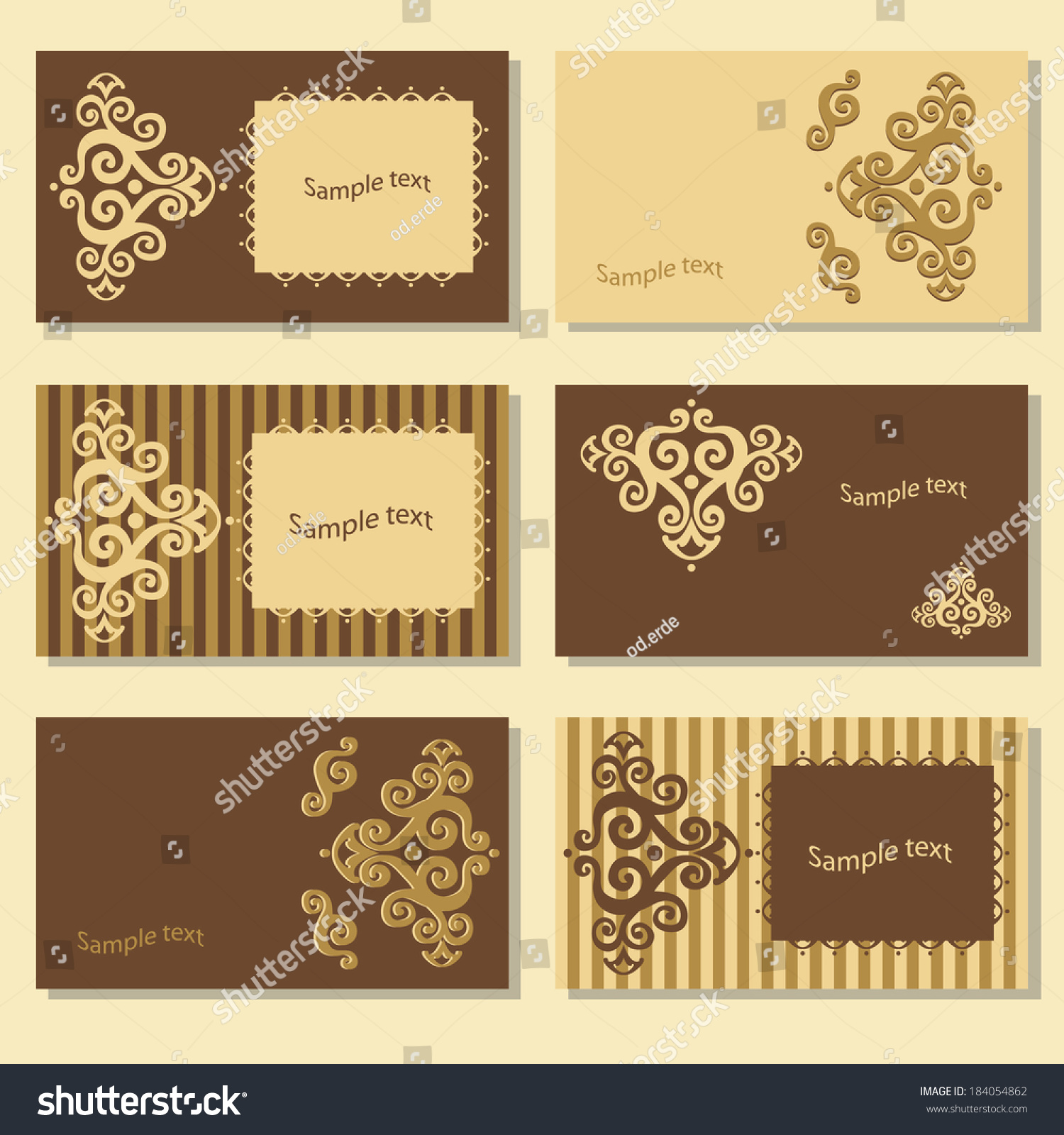 Vintage Business Cards Calling Card Vector Stock Vector HD (Royalty ...
