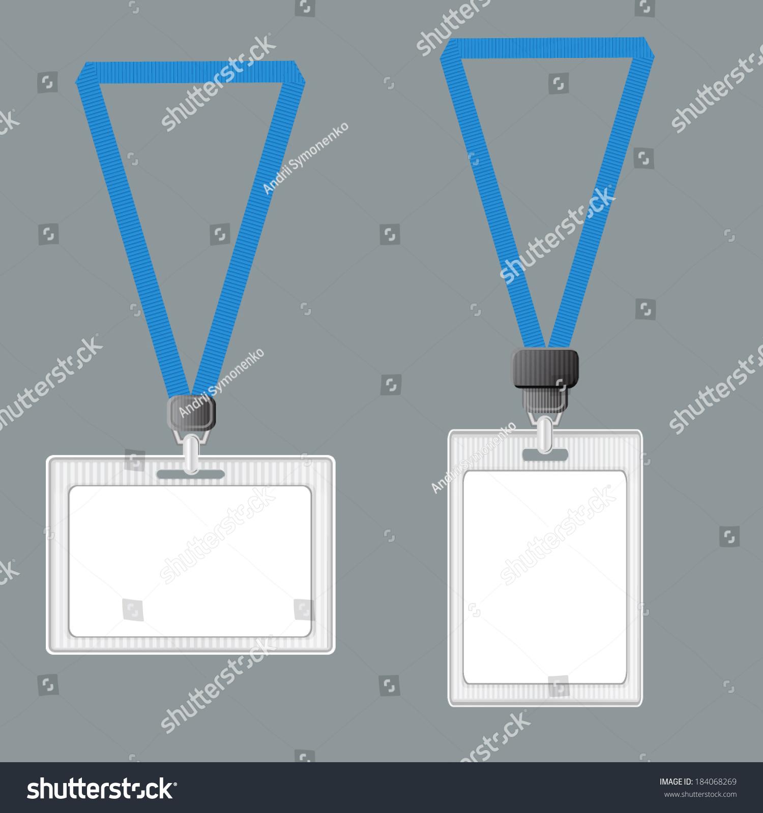 Template Lanyard Retractor End Badge Badge Stock Vector (Royalty ...