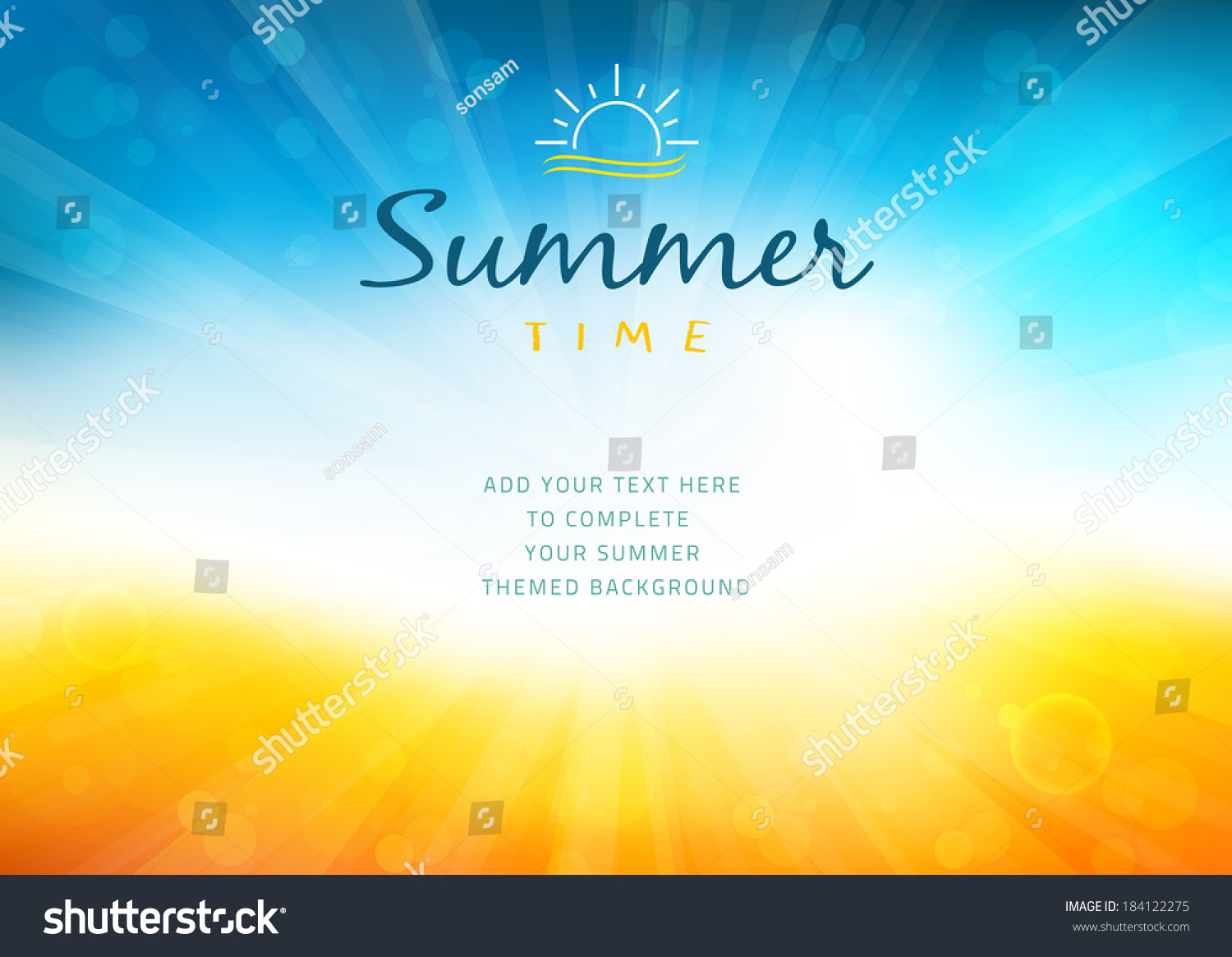 summer time background text illustration vector stock vector 184122275