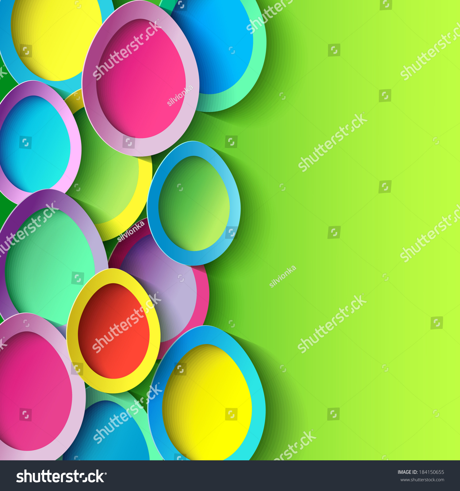 Abstract Trendy Background With Colorful 3d Cut Paper