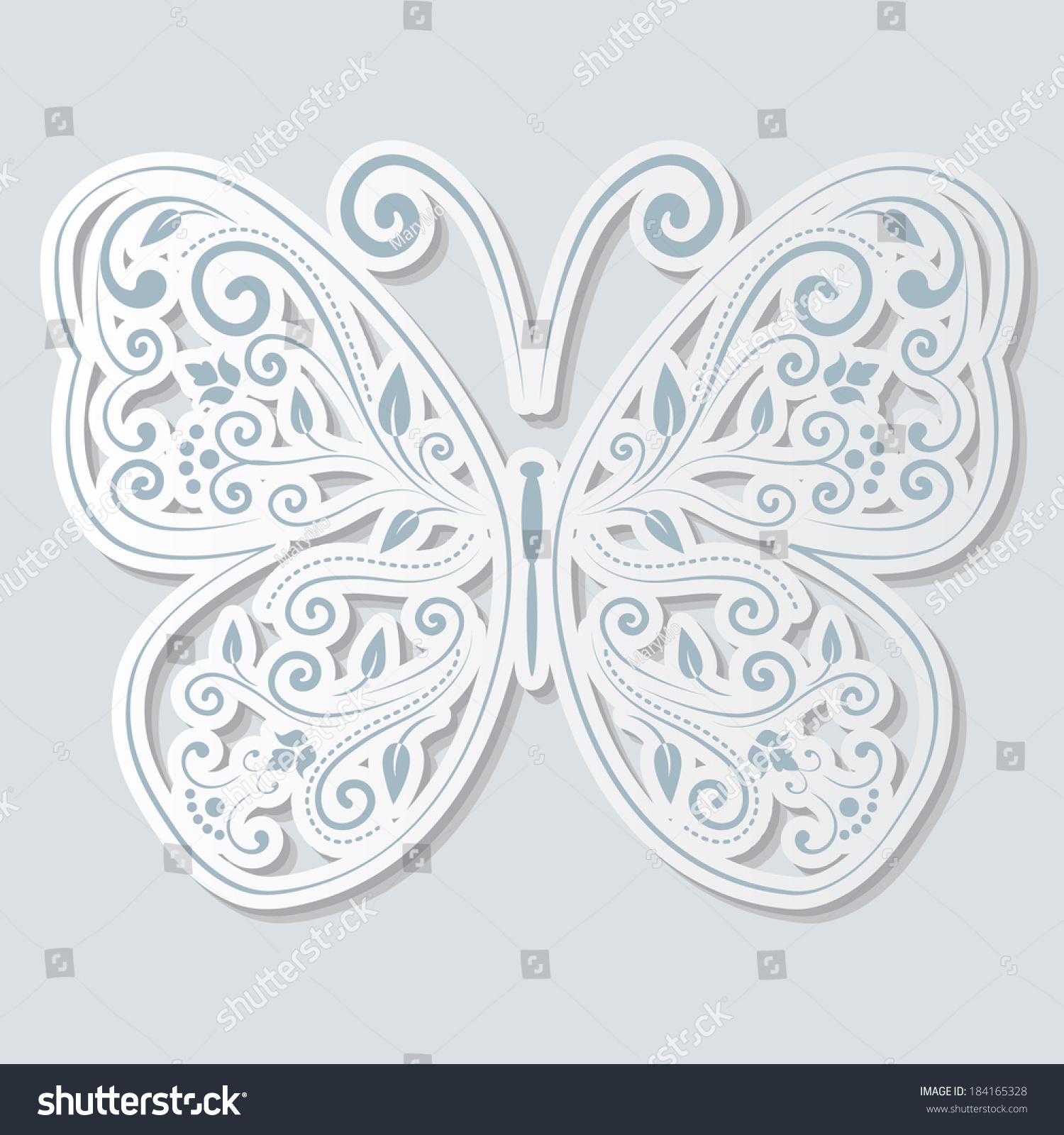 how to cut out a butterfly out of paper
