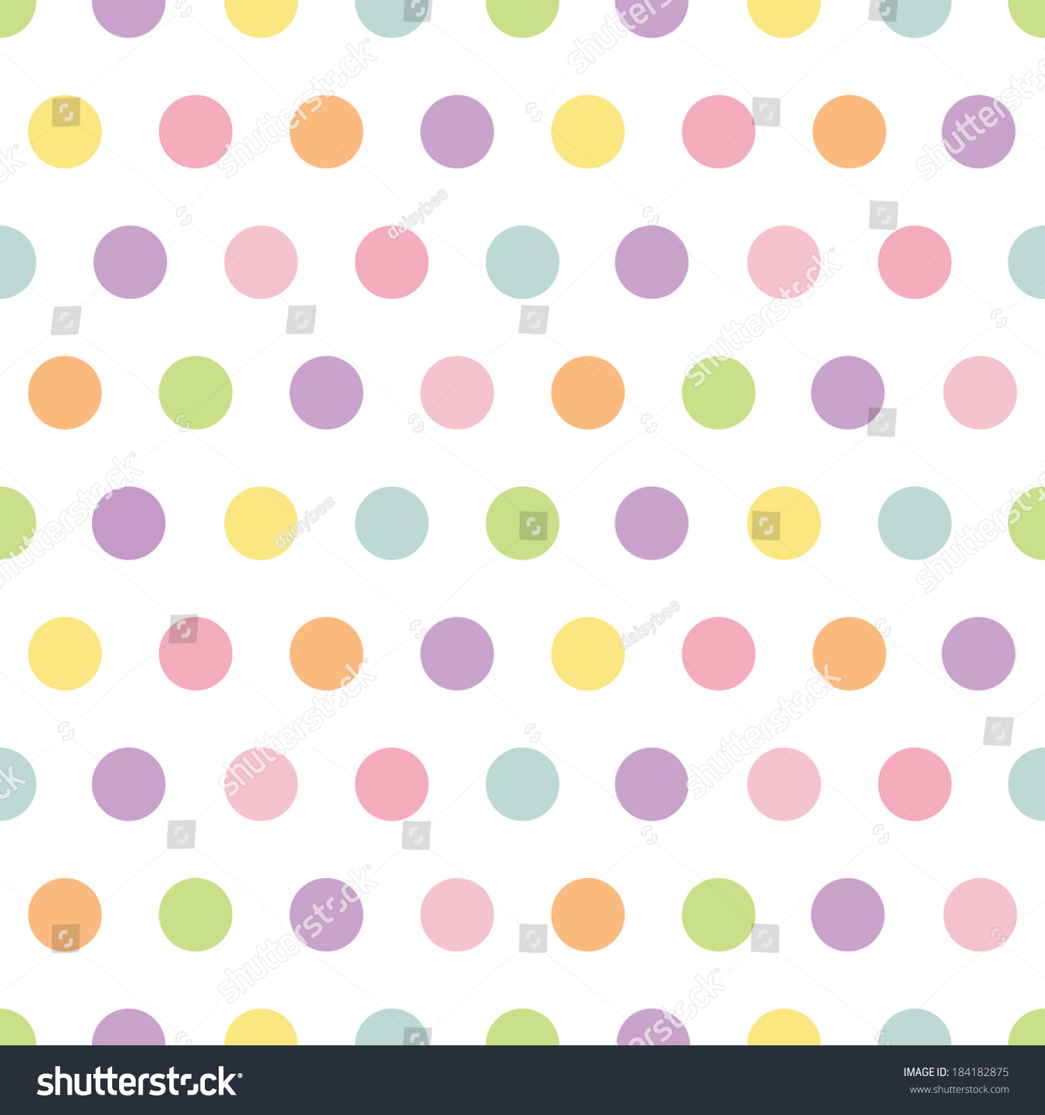Cute seamless retro polka dots pattern stock illustration cute seamless retro polka dots pattern in spring colors for baby mothers day easter negle Image collections
