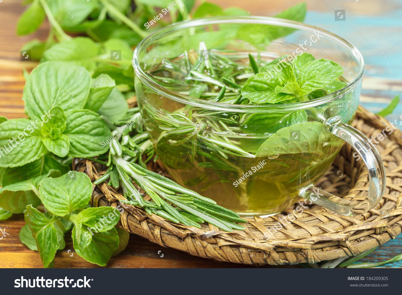 Herbal mint tea