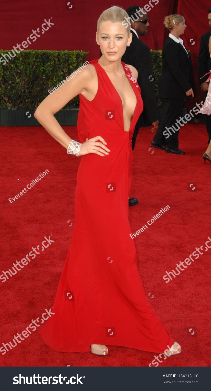 Blake Lively Wearing Versace Gown 61st Stock Photo (Edit Now ...