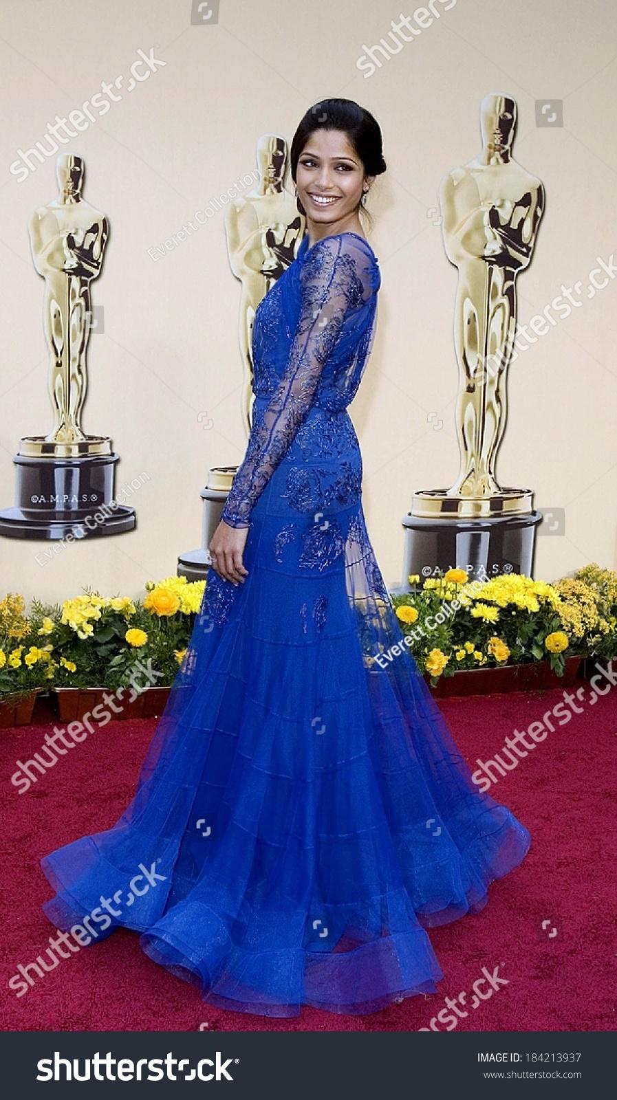 Freida Pinto Wearing John Galliano Gown Stock Photo (Edit Now ...