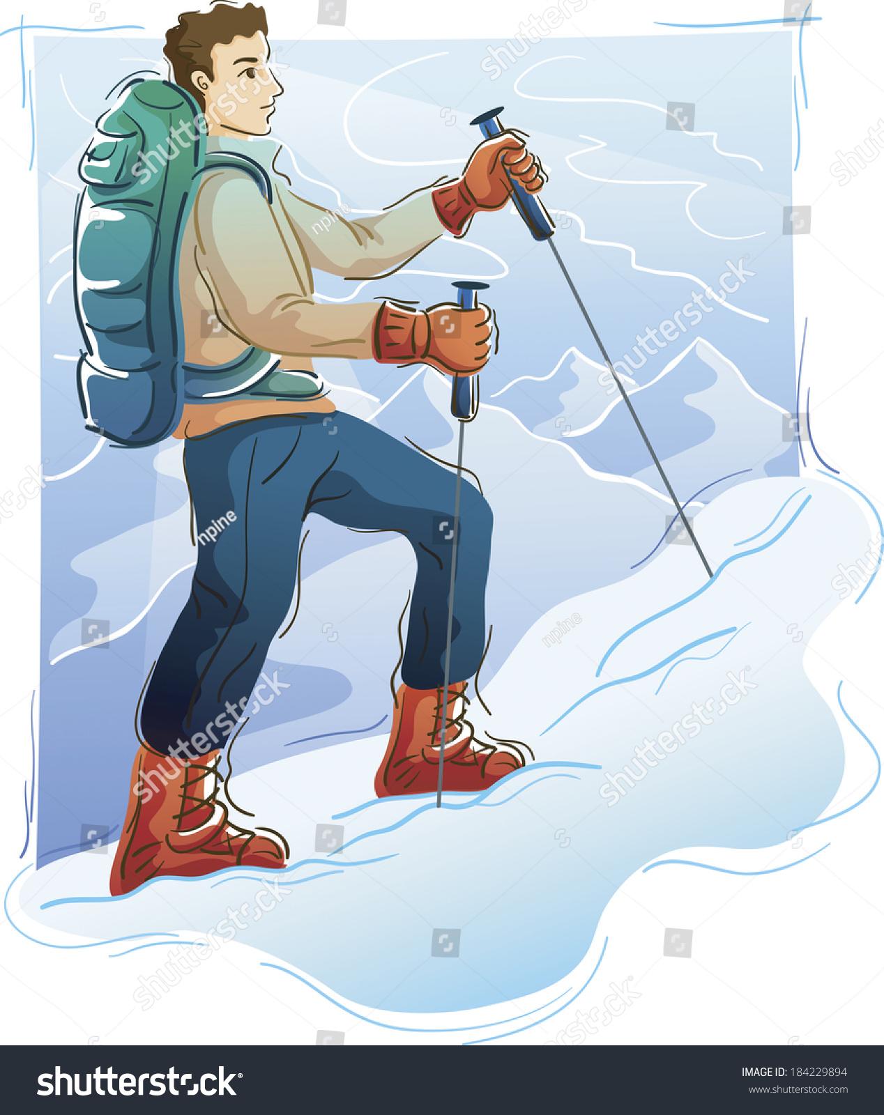Illustration Mountaineer Stock Illustration 184229894 - Shutterstock