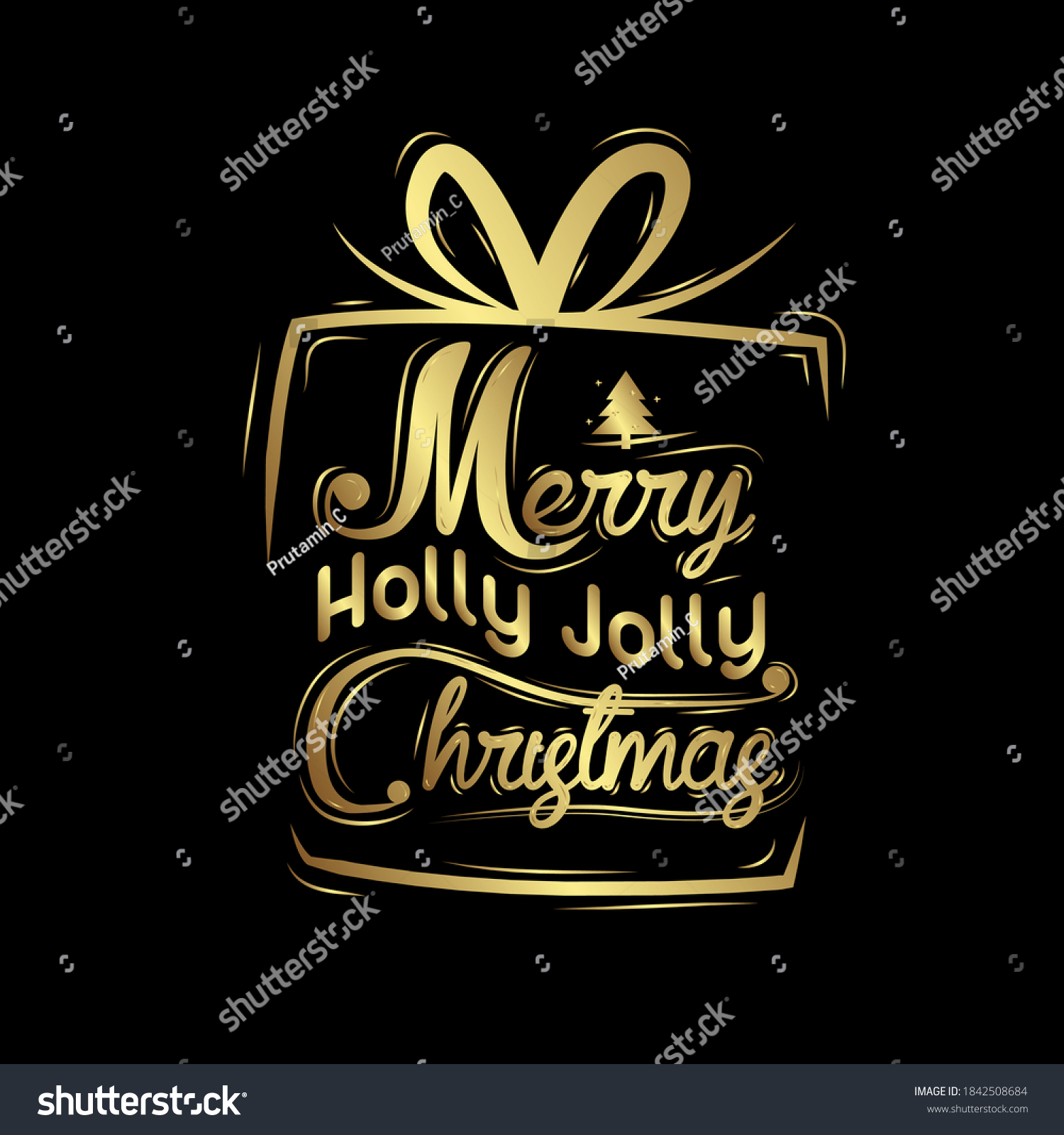merry christmas, Vintage Background With Beautiful Typography and confetti Elements. good use for holiday and new year event