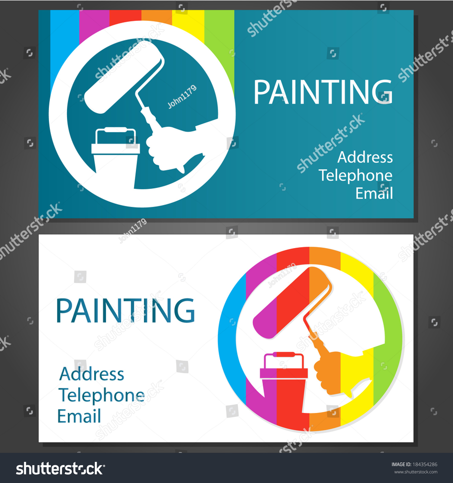 Design Business Cards Painting Business Vector Stock Vector