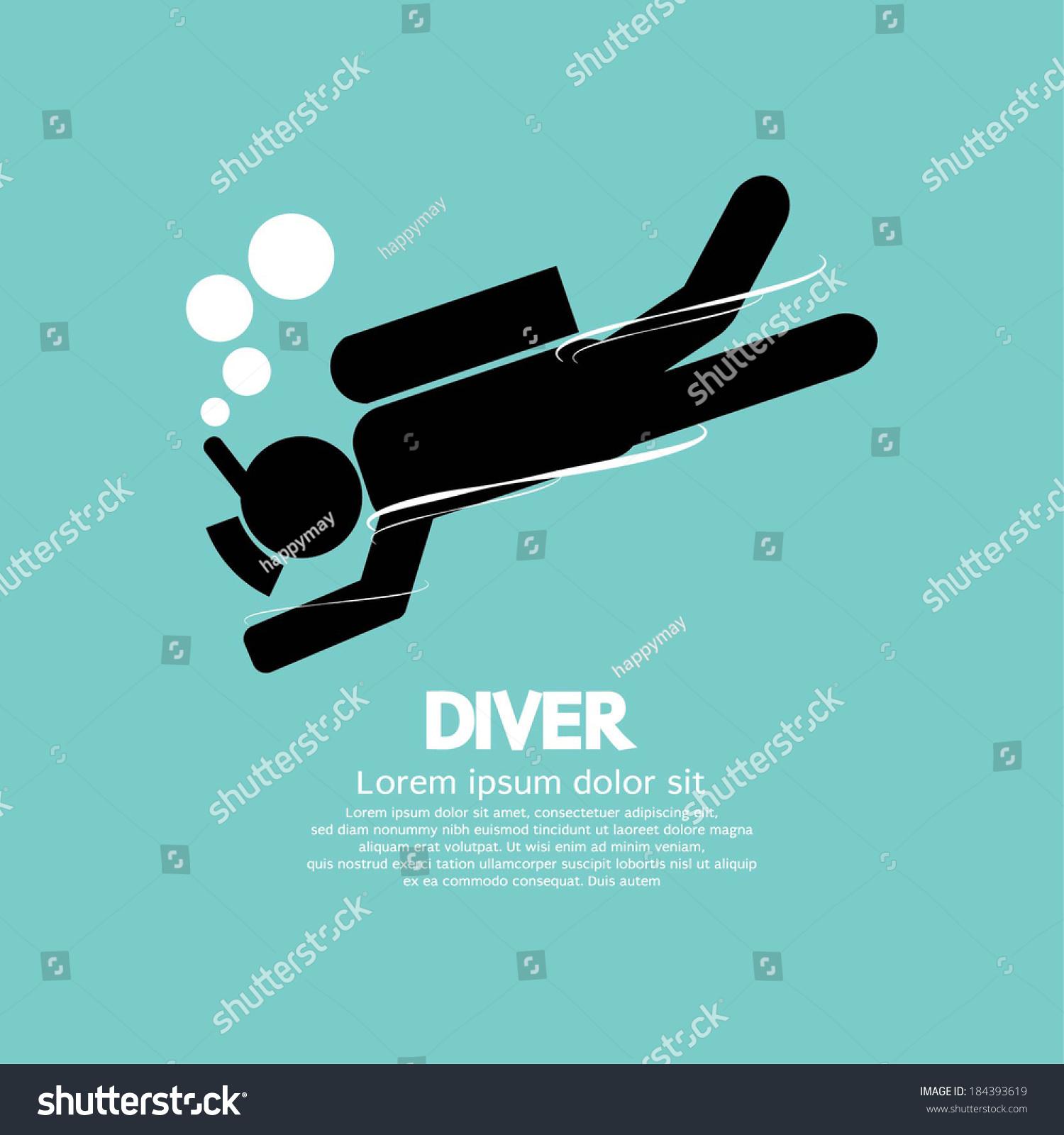 Stock Vector Diver Vector Illustration