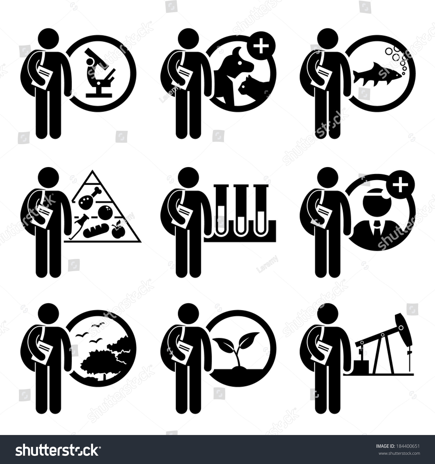 student degree in agriculture science stick figure pictogram icon - Agriculture Scientist Resume