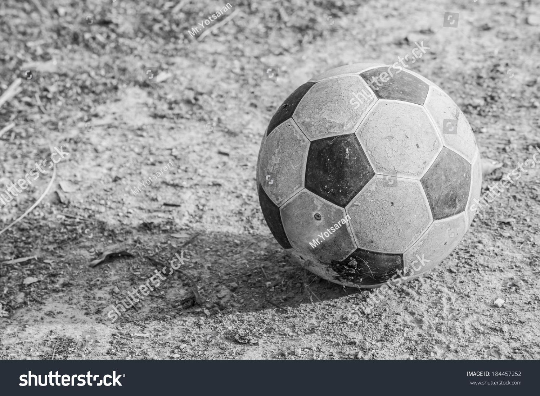 Black White Portrait Old Football On Stock Photo (Edit Now) 184457252