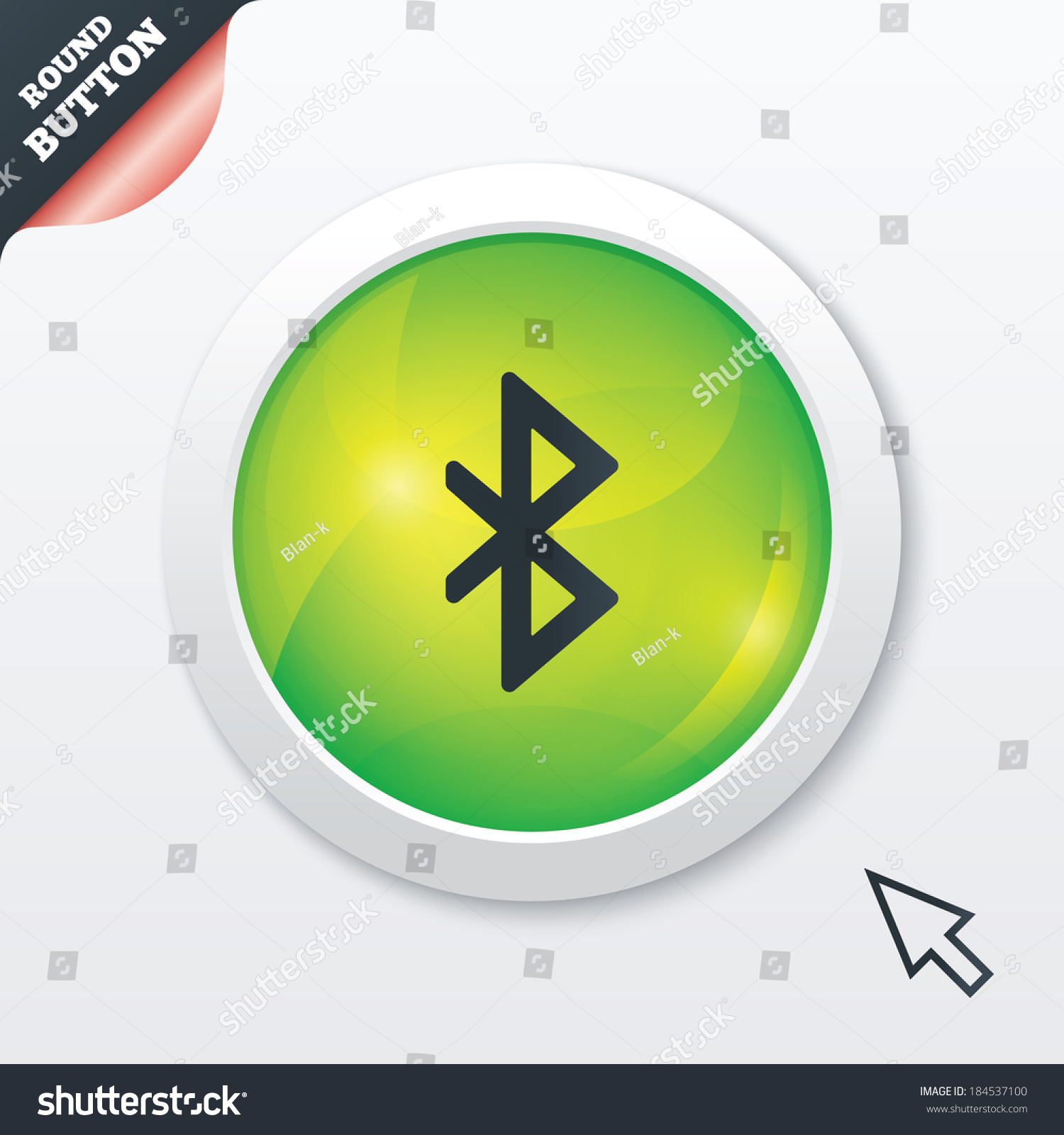 Bluetooth sign icon mobile network symbol stock illustration mobile network symbol data transfer green shiny button modern biocorpaavc