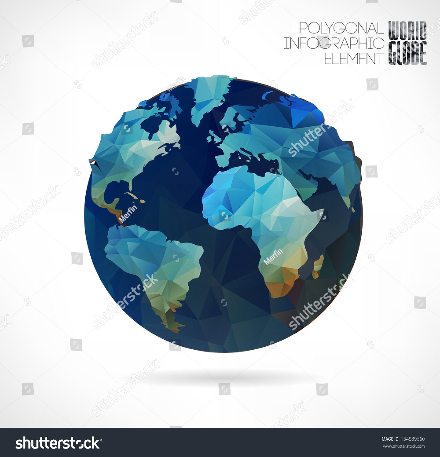 Vector world globe 3 d triangular map stock photo photo vector vector world globe 3d triangular map of the earth modern elements of info graphics gumiabroncs Images