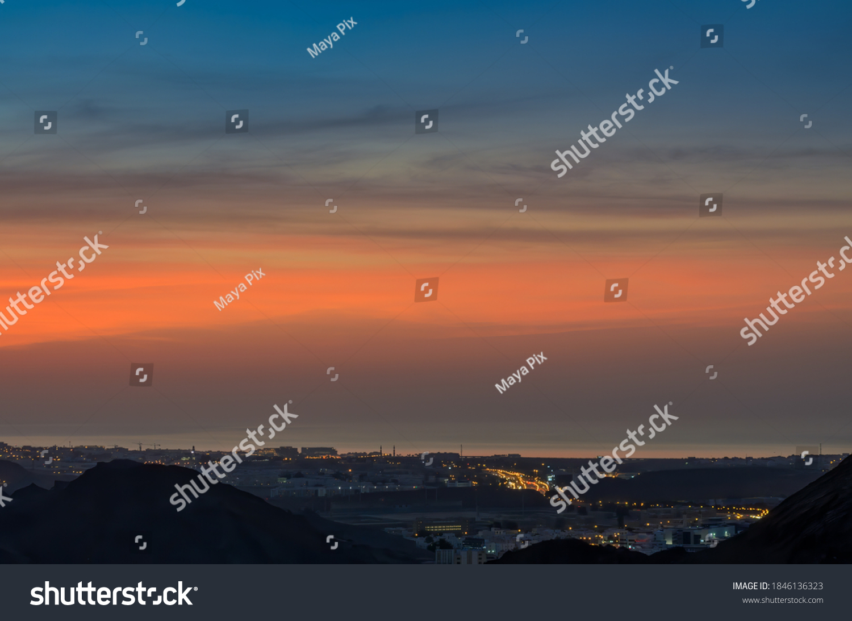 stock-photo-beautiful-blue-orange-sky-ov