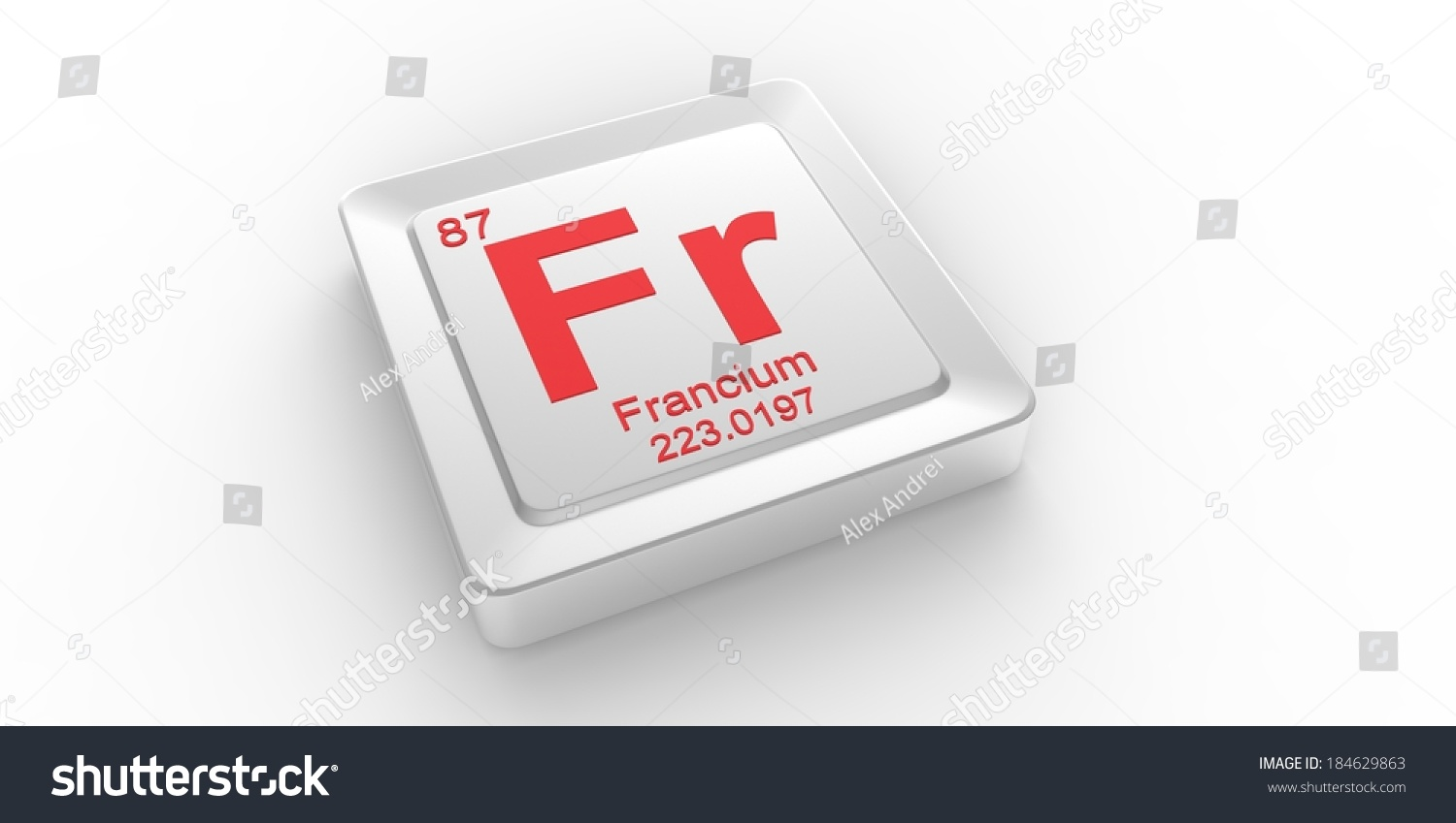 Fr Symbol 87 Material Francium Chemical Stock Illustration 184629863