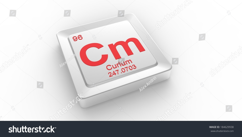Cm Symbol 96 Material Curium Chemical Stock Illustration 184629938