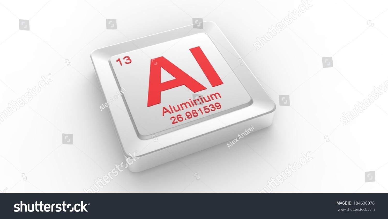 Al Symbol 13 Material Aluminum Chemical Stock Illustration 184630076