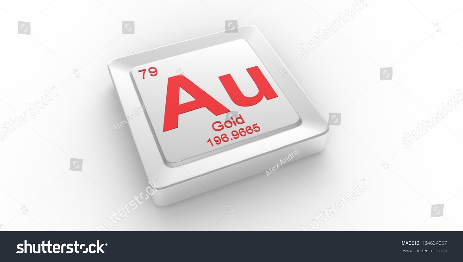 Au Symbol 79 Material Gold Chemical Stock Illustration 184634057
