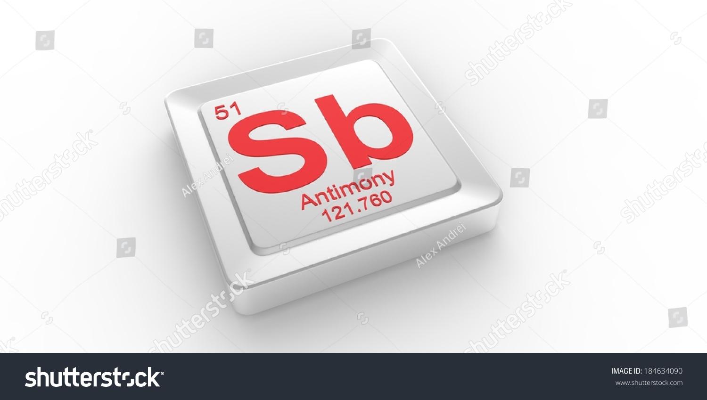 Sb Symbol 51 Material Antimony Chemical Stock Illustration 184634090