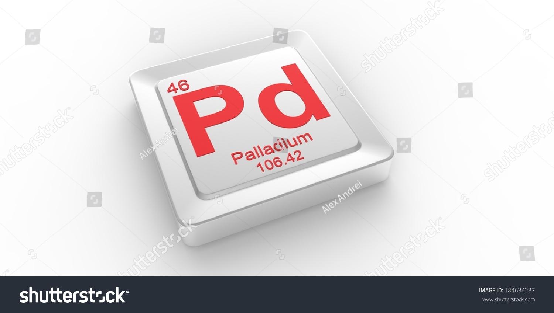 Pd Symbol 46 Material Palladium Chemical Stock Illustration