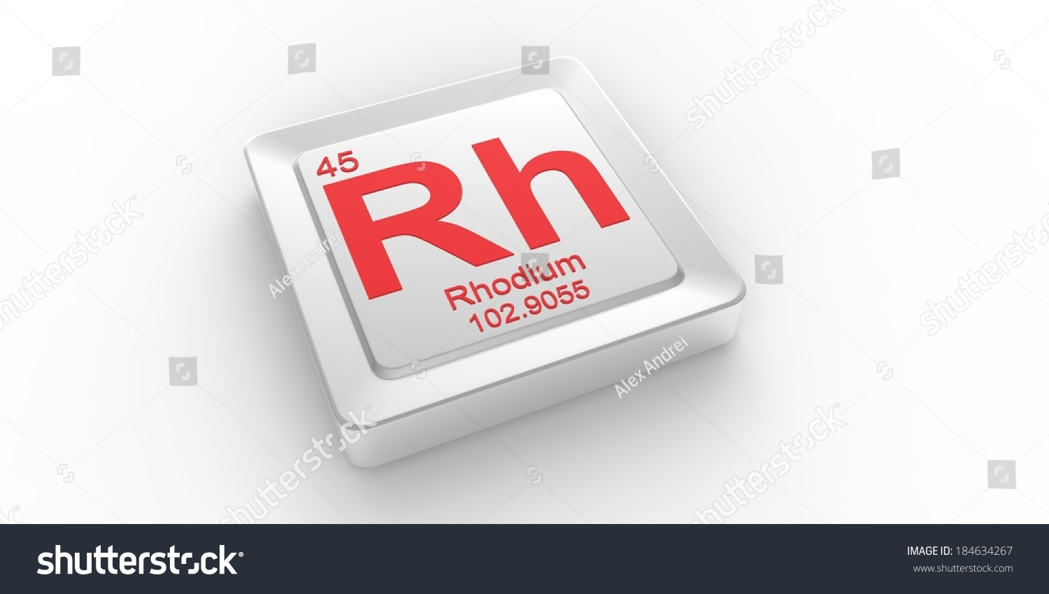 Rh symbol 45 material rhodium chemical stock illustration rh symbol 45 material for rhodium chemical element of the periodic table gamestrikefo Images