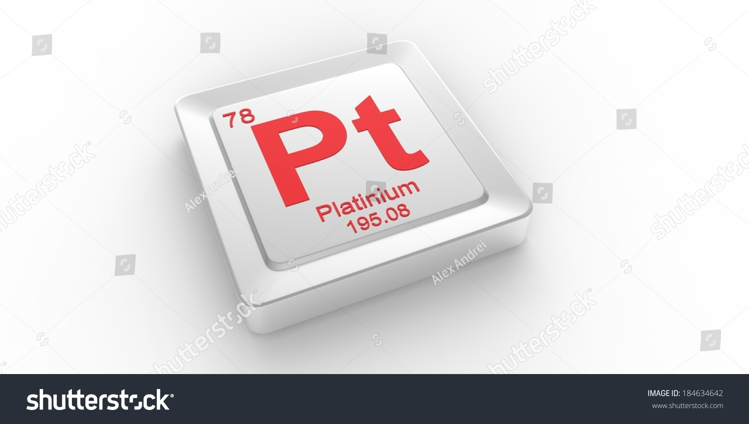 Pt Symbol 78 Material Platinum Chemical Stock Illustration 184634642
