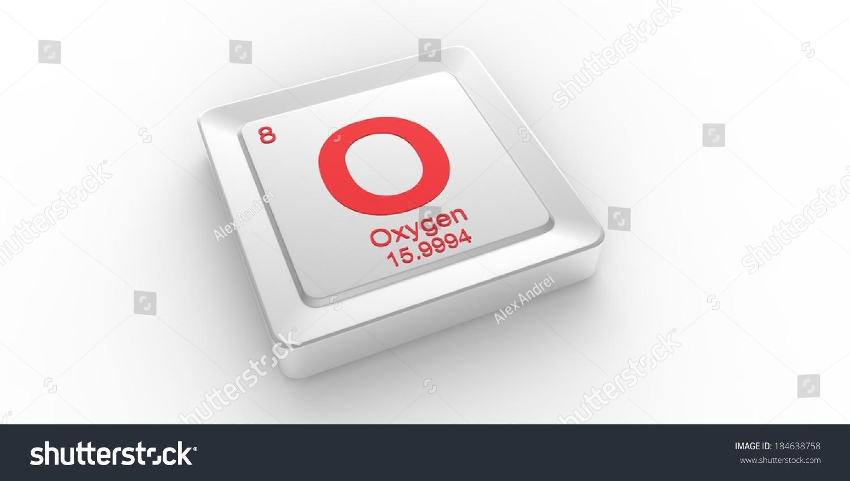 O Symbol 8 Material Oxygen Chemical Stock Illustration 184638758