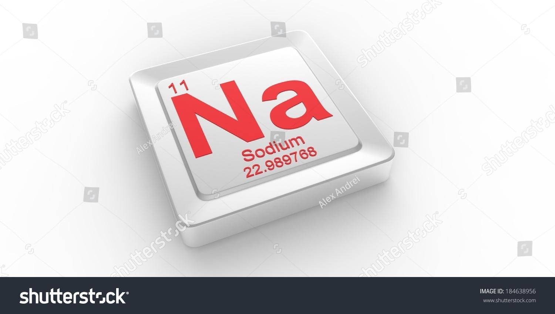 Na Symbol 11 Material Sodium Chemical Stock Illustration 184638956