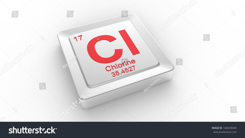 Cl Symbol 17 Material Chlorine Chemical Stock Illustration 184639049