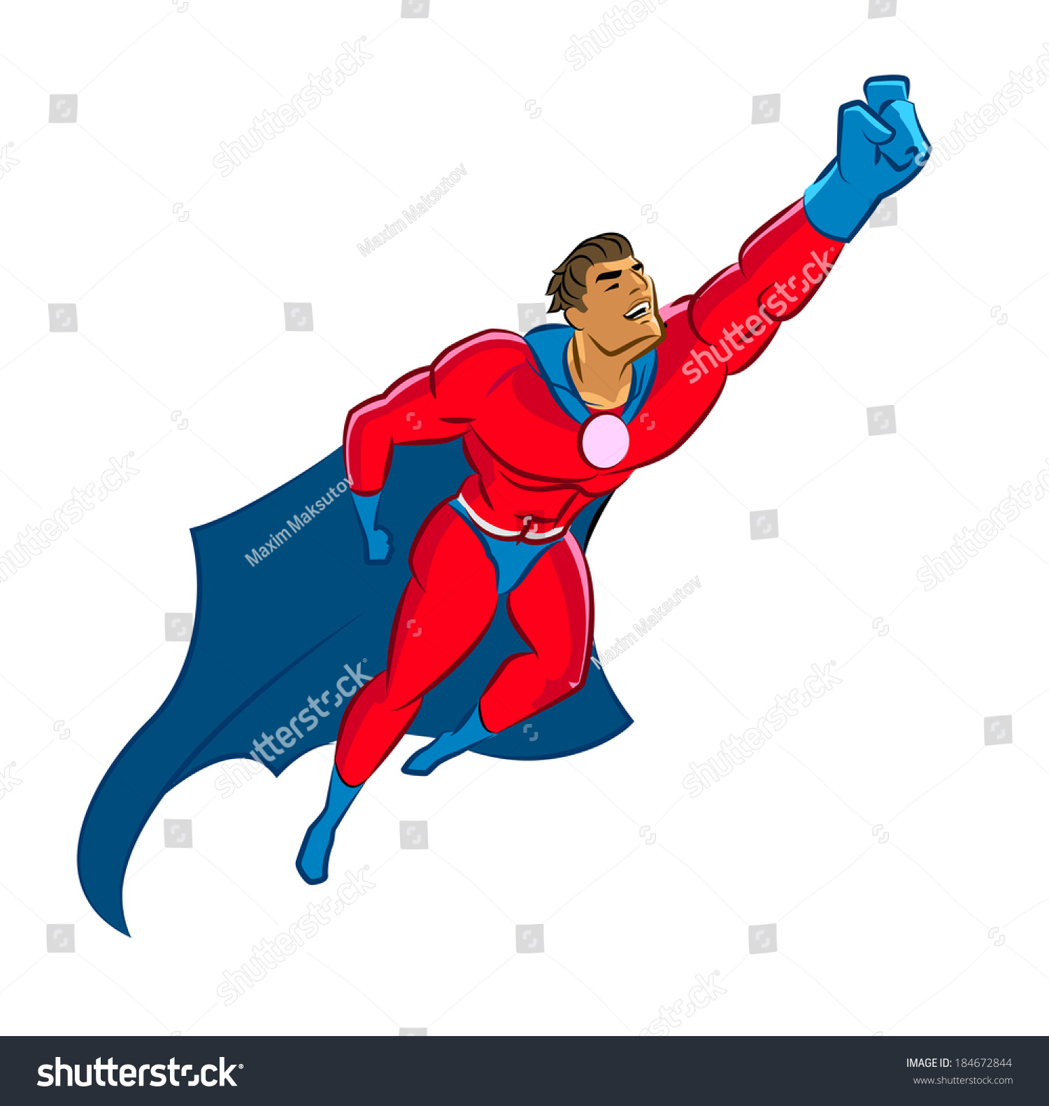 Superhero Flying Up Stock Vector 184672844 : Shutterstock Superhero Flying Vector
