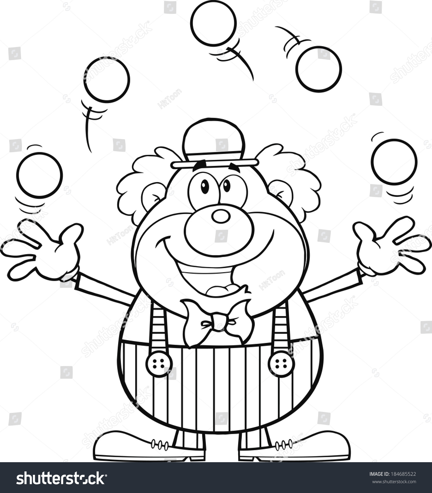 black and white clip art juggling clown face � cliparts