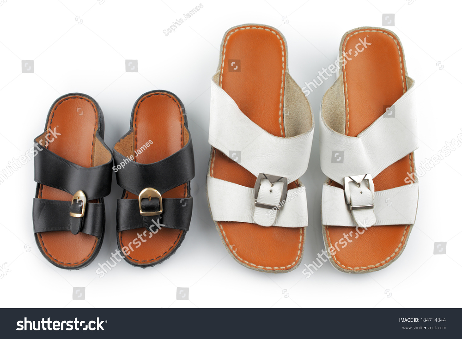 eff5e28c9c5 Traditional Arabic Sandals Shot Against White Stock Photo (Edit Now ...