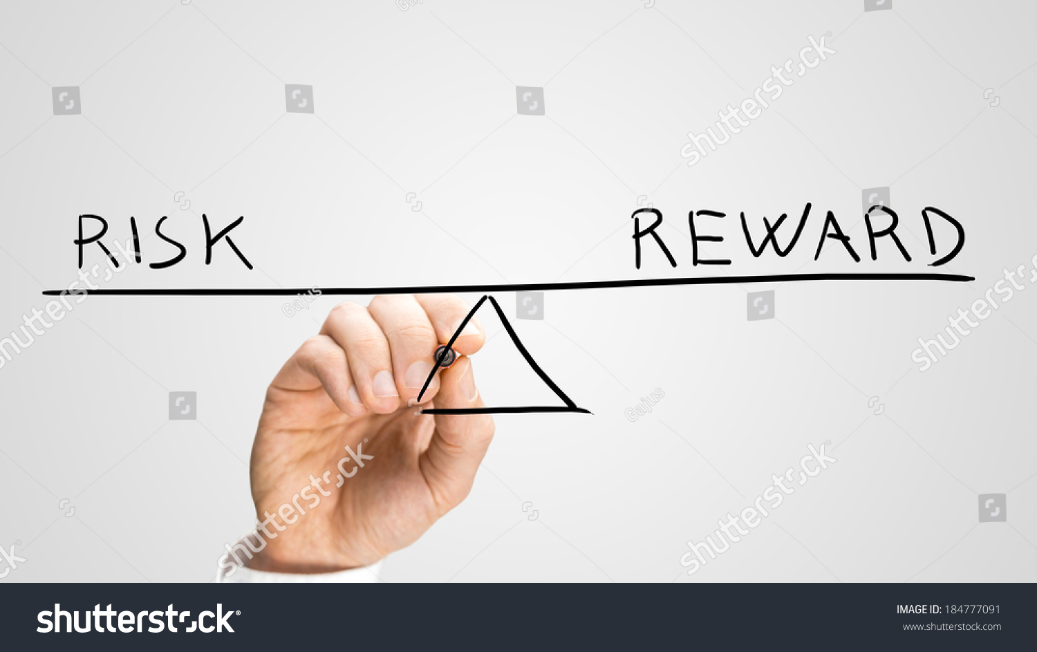 Diagram Seesaw Showing Risk Reward Perfect Stock Photo Edit Now
