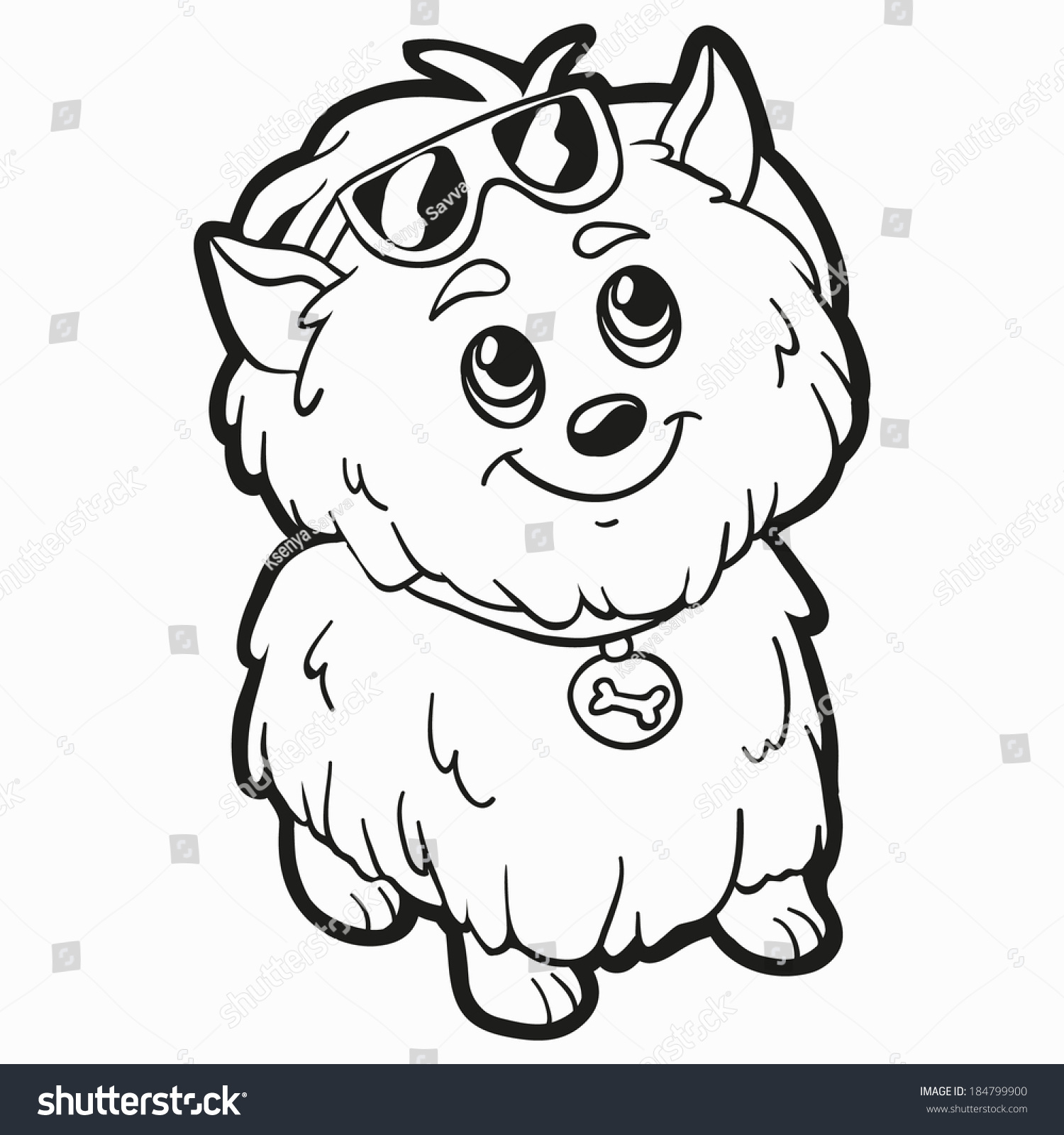 Coloring Book Dog Stock Vector Shutterstock
