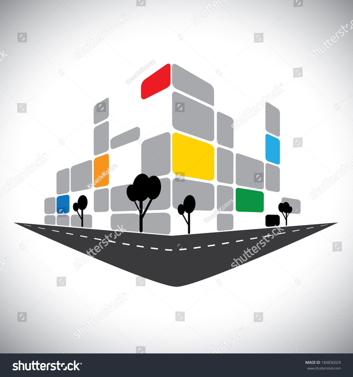 Rise Against Icon Stock Vector Vector Icon Commercial Office High Rise