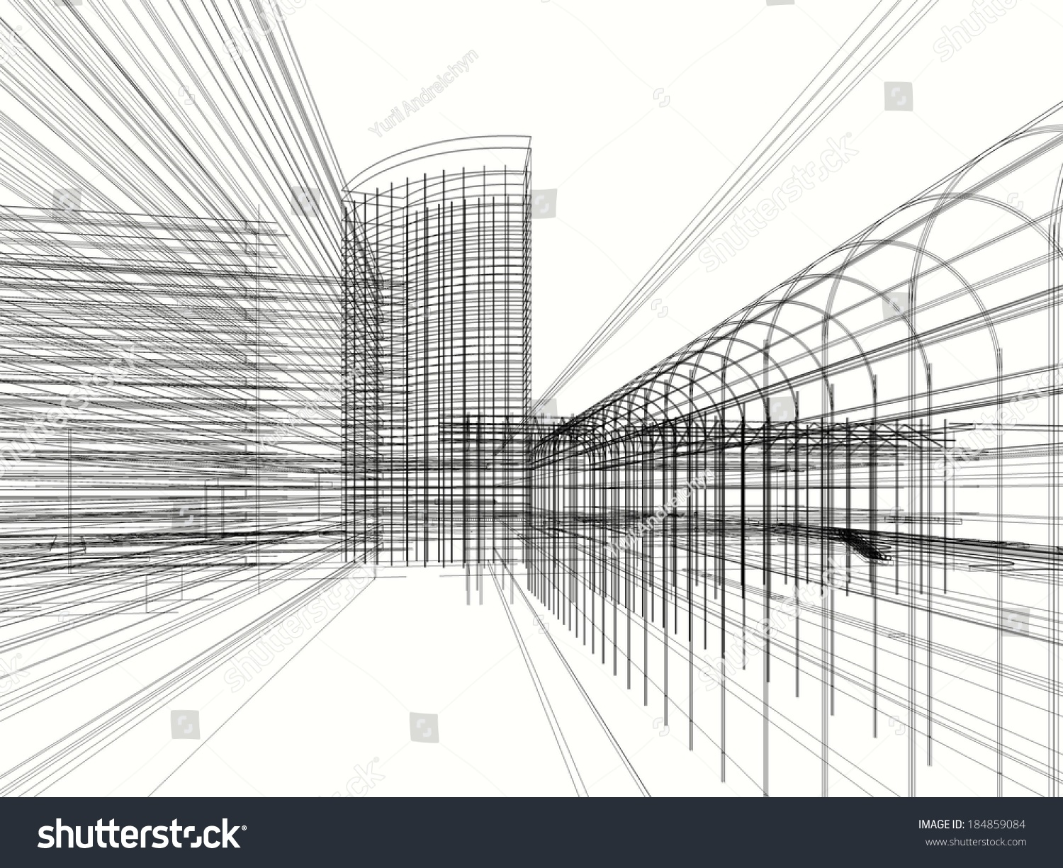 Architecture Drawing Wallpaper abstract architecture design wallpaper stock illustration