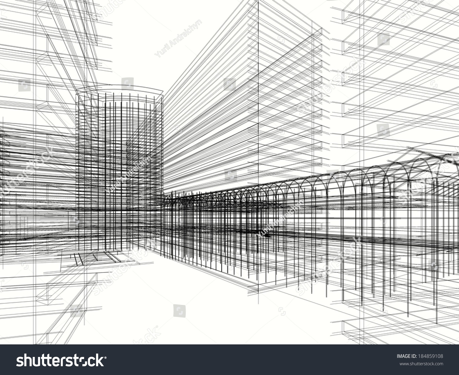 Abstract Architecture Design Wallpaper Architectural Drawings