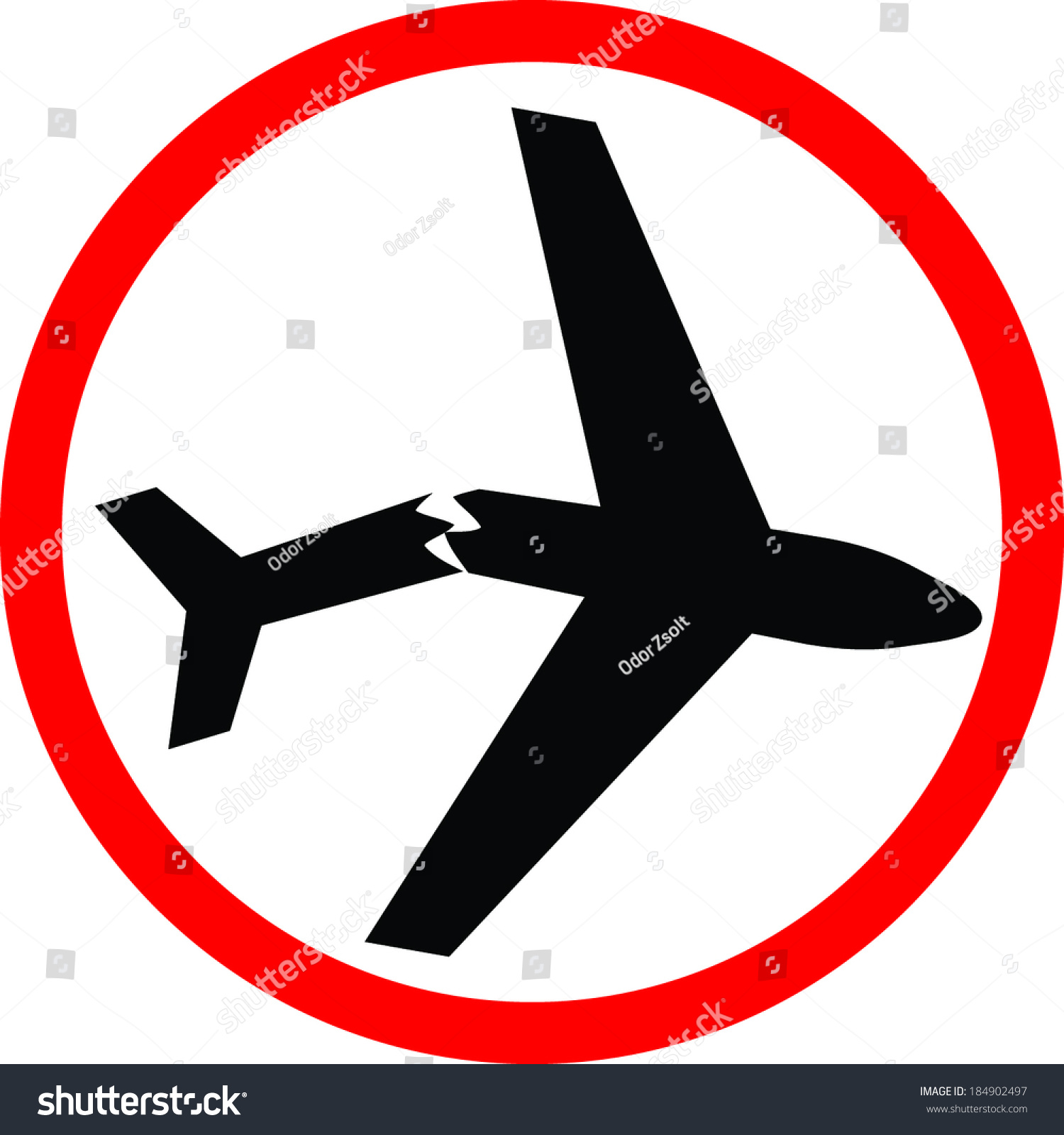 plane crash stock vector 184902497 shutterstock rh shutterstock com  clipart airplane crash