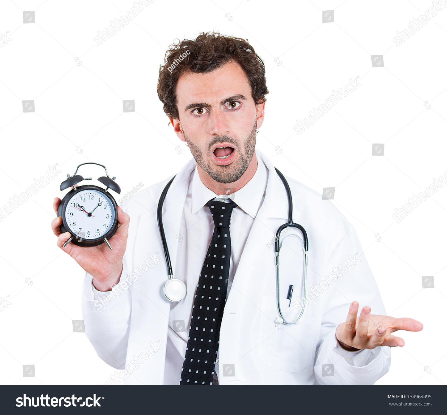 Closeup Portrait, Overwhelmed With Busy Schedule, Unhappy ...  Unhappy Doctor