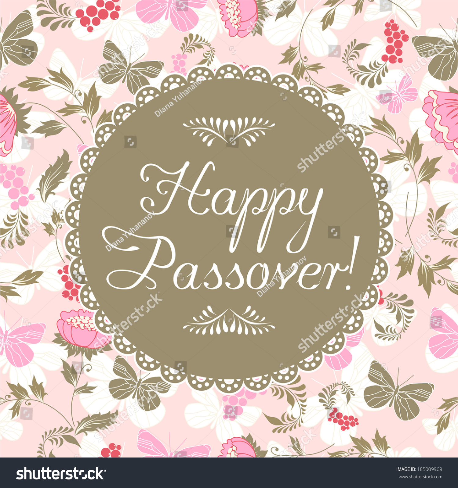 Happy Passover Holiday Greeting Card Design Ez Canvas
