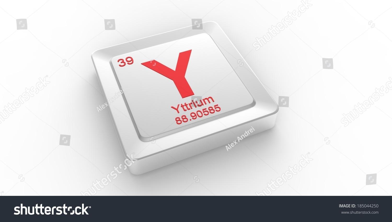 Y Symbol 39 Material Yttrium Chemical Stock Illustration 185044250