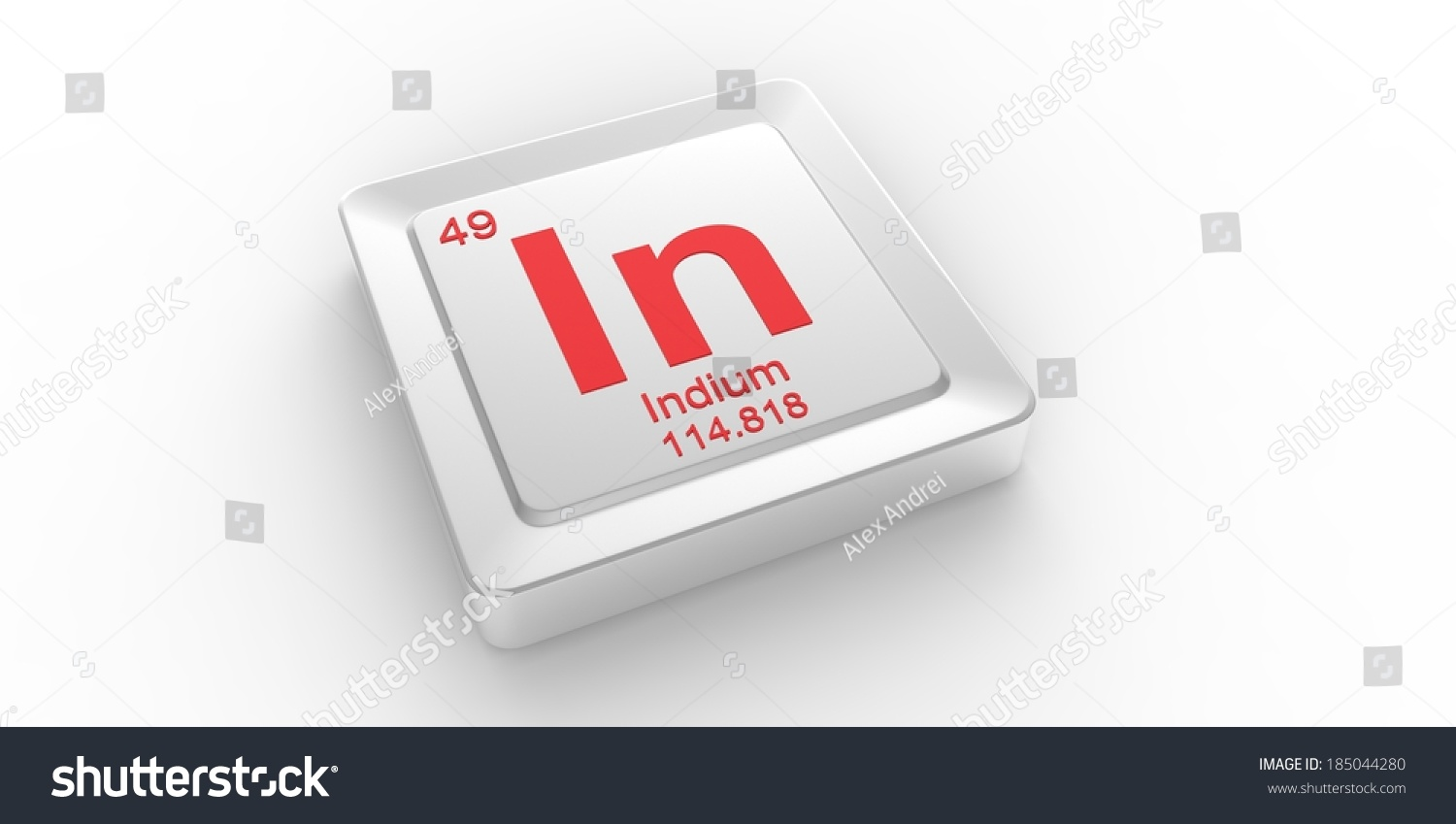 Symbol 49 material indium chemical element stock illustration in symbol 49 material for indium chemical element of the periodic table biocorpaavc Images