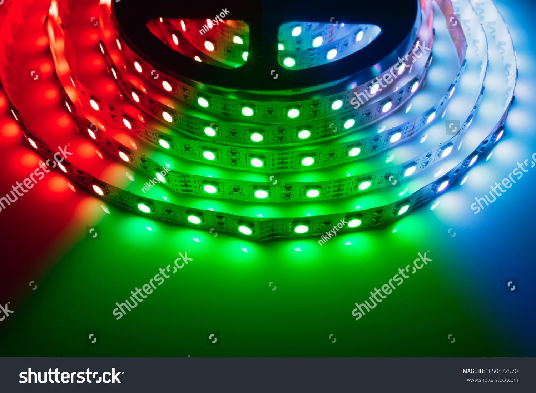 multicolor rgb led light strip roll #1850872570