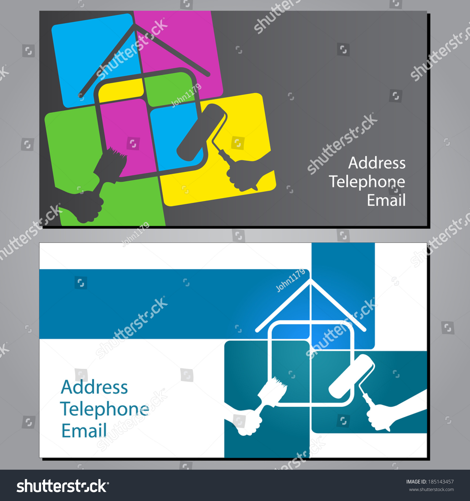 Design business cards painting houses vector stock vector 185143457 design business cards painting houses vector stock vector 185143457 shutterstock colourmoves