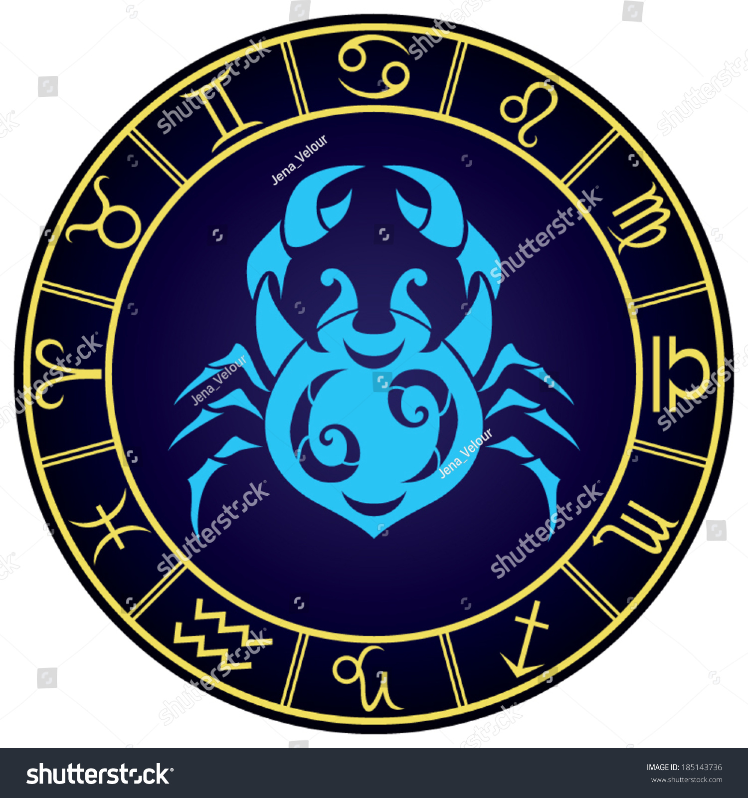 Cancer zodiac sign golden frame vector stock vector 185143736 cancer zodiac sign in the golden frame vector illustration biocorpaavc Gallery