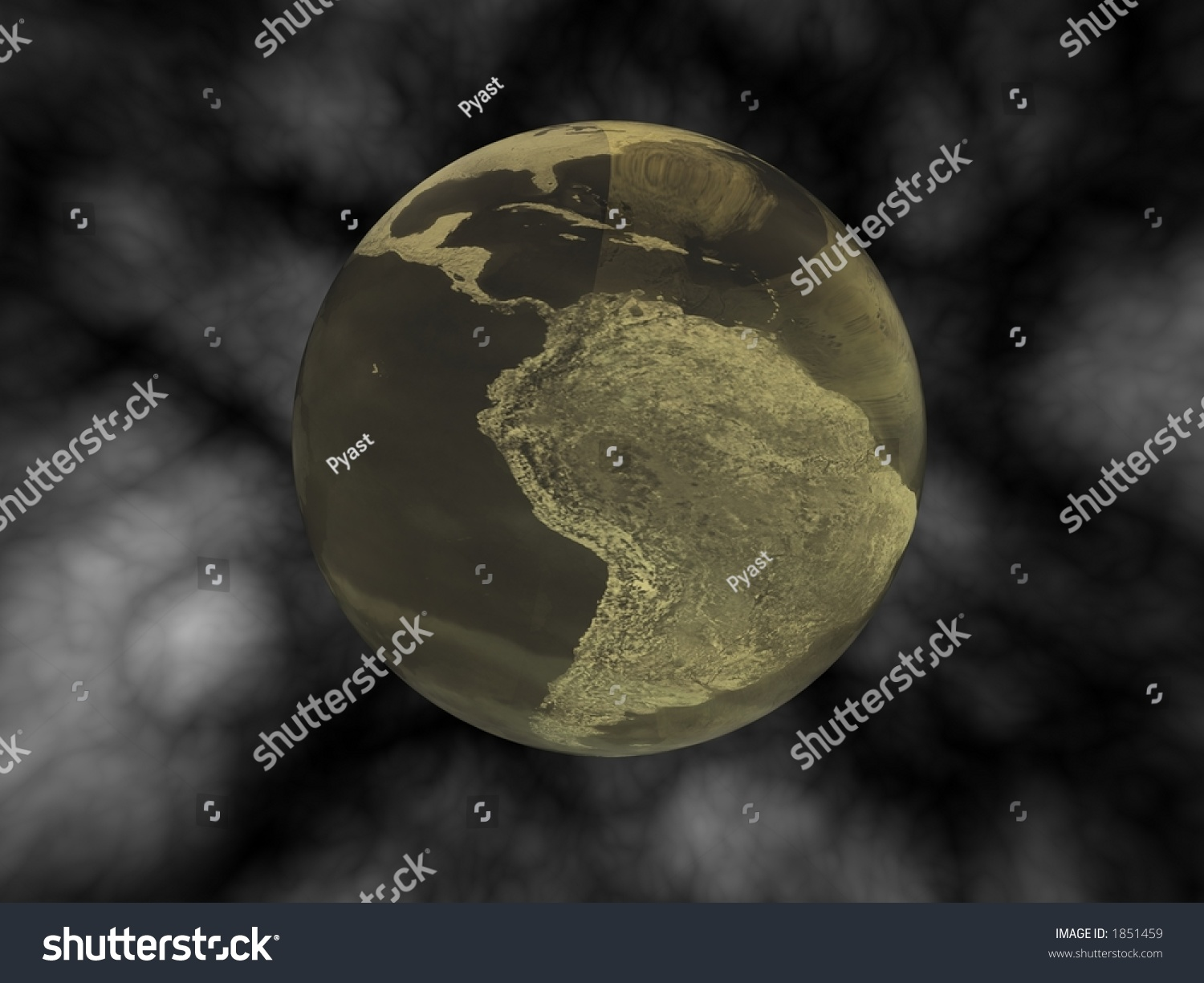 Polluted Planet Earth Stock Photo 1851459 : Shutterstock