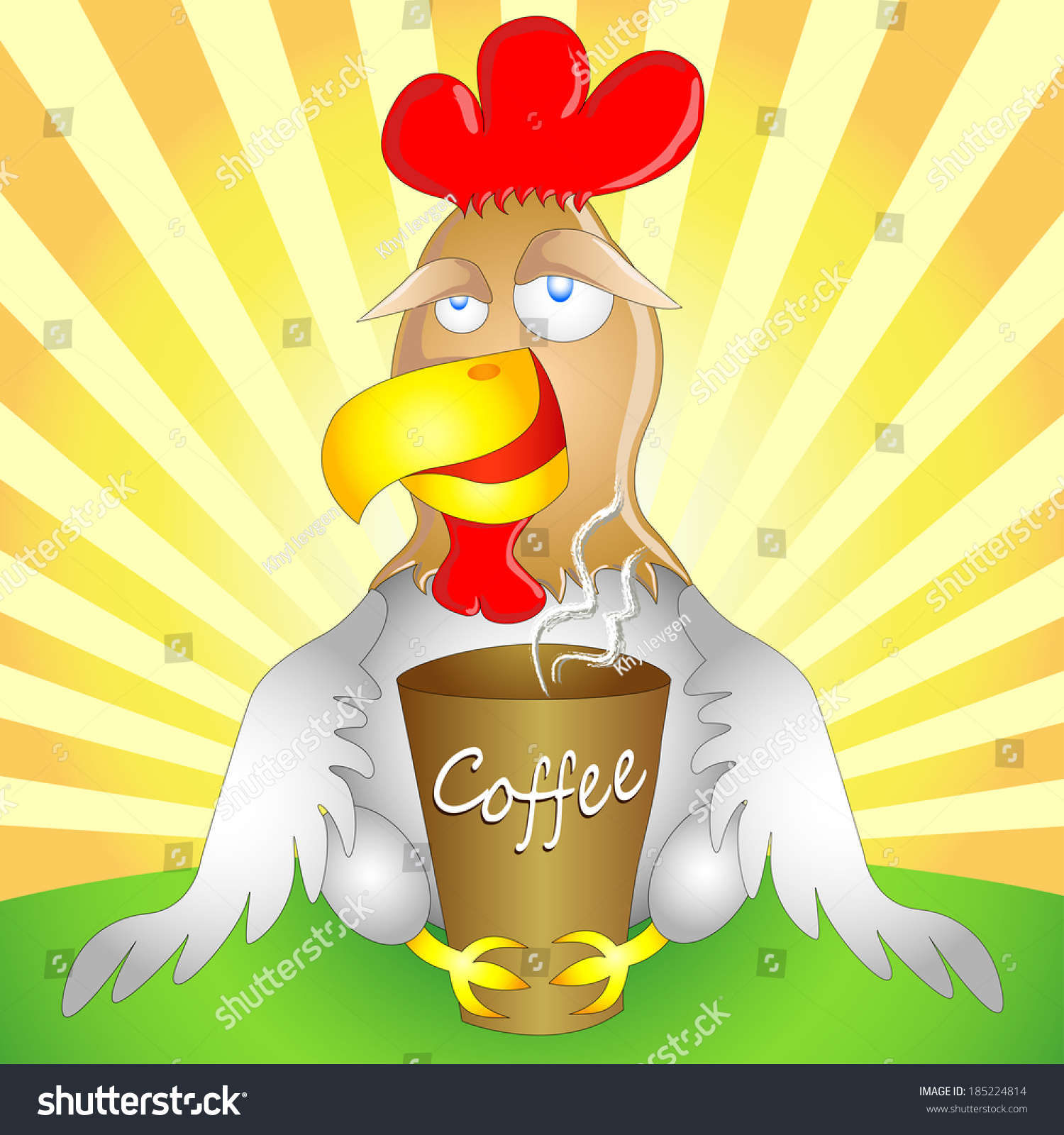 Funny Cock Pics funny cock cup coffee on morning stock image | download now
