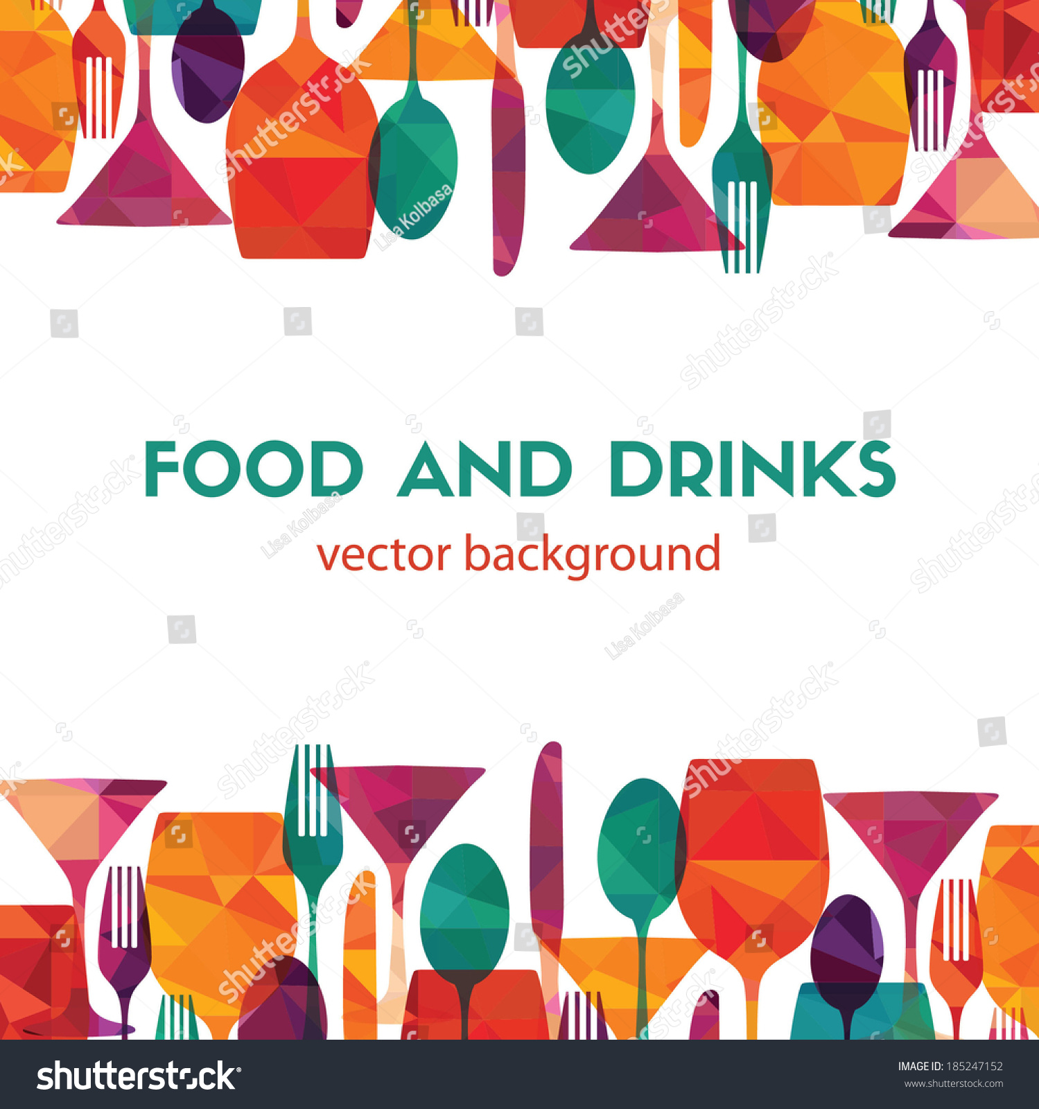 Pattern Background. Food And Drinks Stock Vector